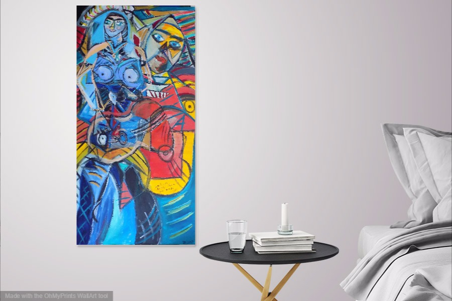 my paintings hung presley expressionism artblog