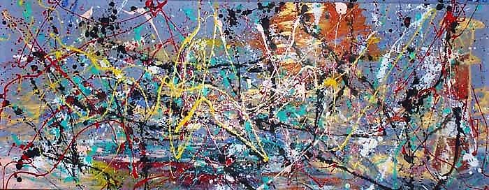 Jackson Pollock – Blue Poles: Number 11,1952