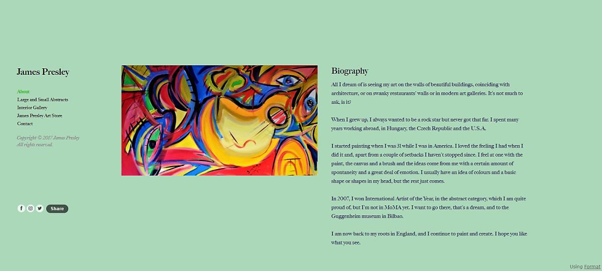 My First Web Design jamespresley.design