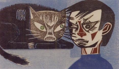 Francisco Amighetti Conflicto Entre Gato Y Nino